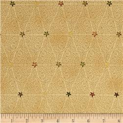 Magical Moments Gold Metallic Vines & Stars Beige