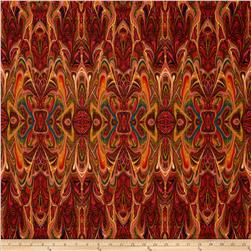 Palindromes Magma Red Fabric