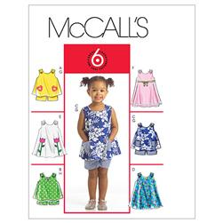 McCall's Toddlers' Tops, Dresses and Shorts Pattern M5416 Size CCB