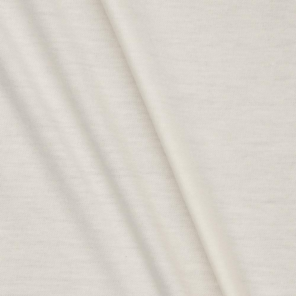 Lightweight Stretch Rayon Jersey Knit Floral White