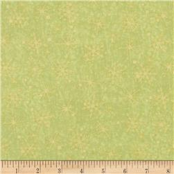 Santa's On His Way Tonal Snowflakes Light Olive