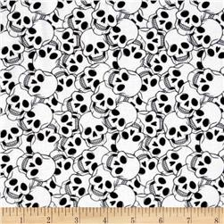 Ghosts & Ghouls Skulls White