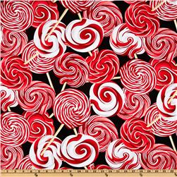 Kanvas Peppermint Twist Lollipops Swirl Black