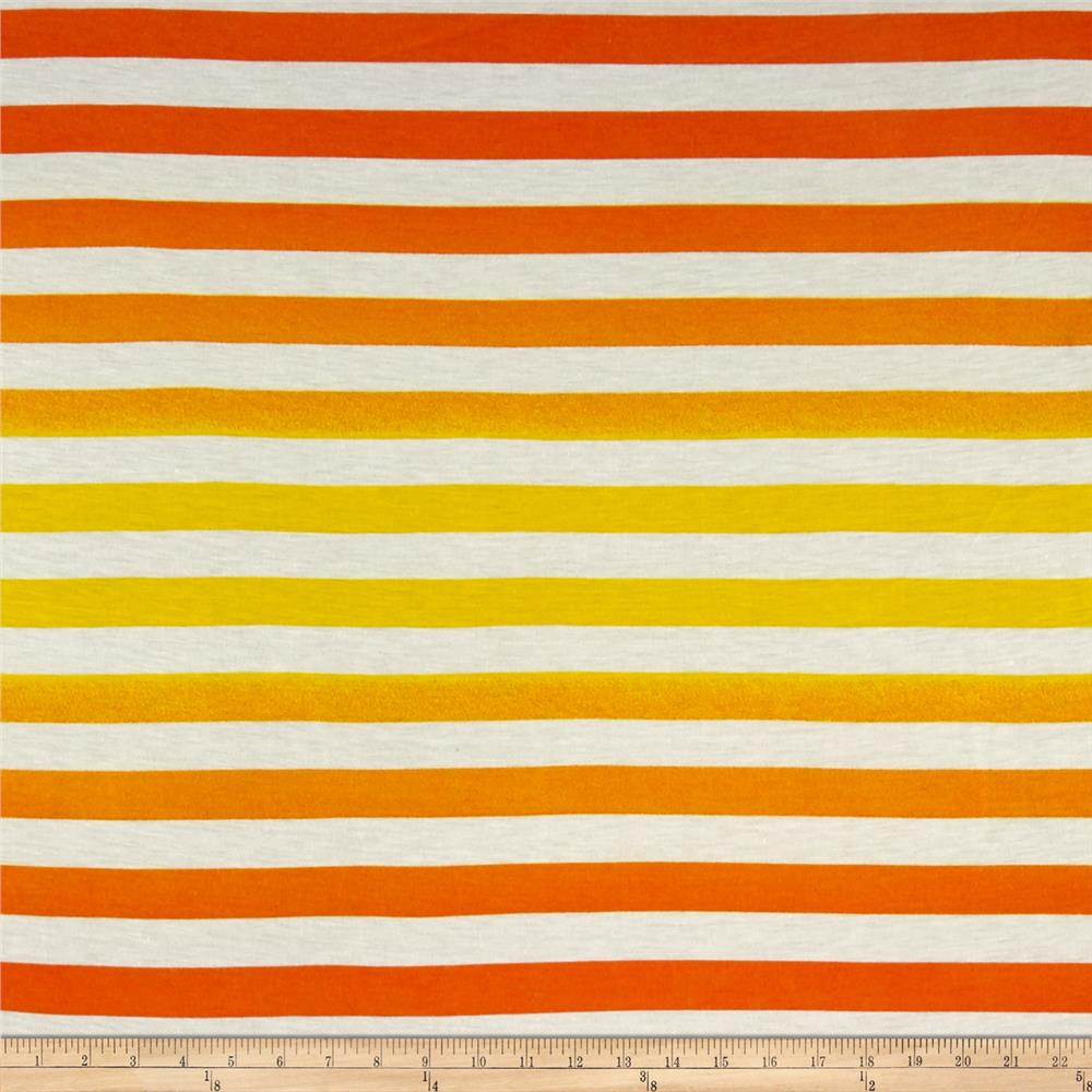 Ombre Jersey Knit Stripe Orange/Yellow