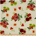 Autumn Abundance Tossed Flowers Cream