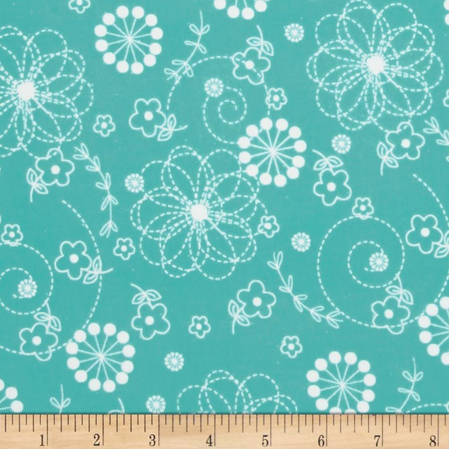 Kimberbell Little One Flannel Too! Doodles Teal