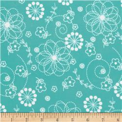 Kimberbell Little One Flannel Too! Flannel Doodles Teal
