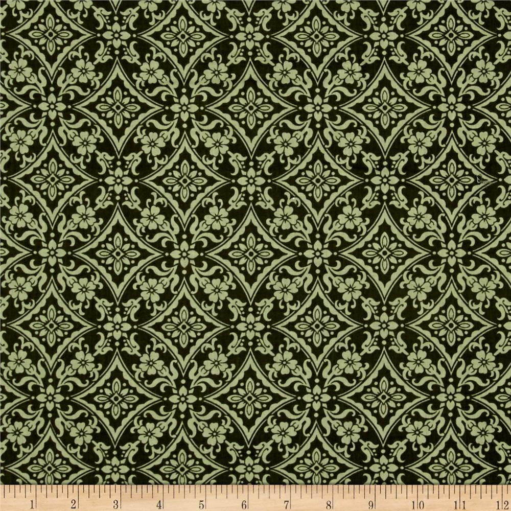 Left Bank Damask Green