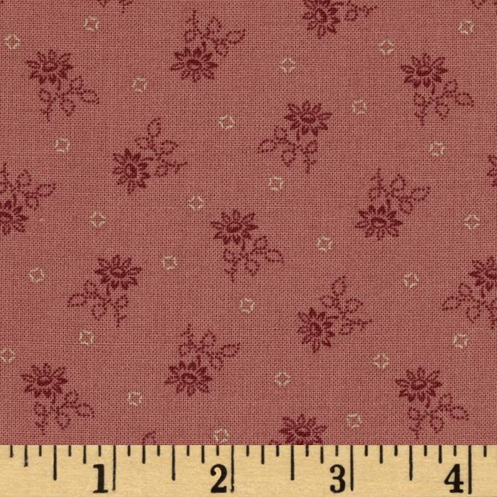 Heart of the Prairie Small Tonal Floral Burgundy
