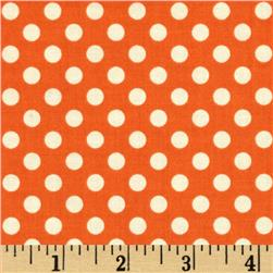 Riley Blake LeCreme Small Dot Orange Fabric