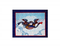 Jim Shore Patriotic 36 In. Panel Blue