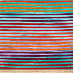Robert Kaufman Dot Dot Dot Stripe Rainbow
