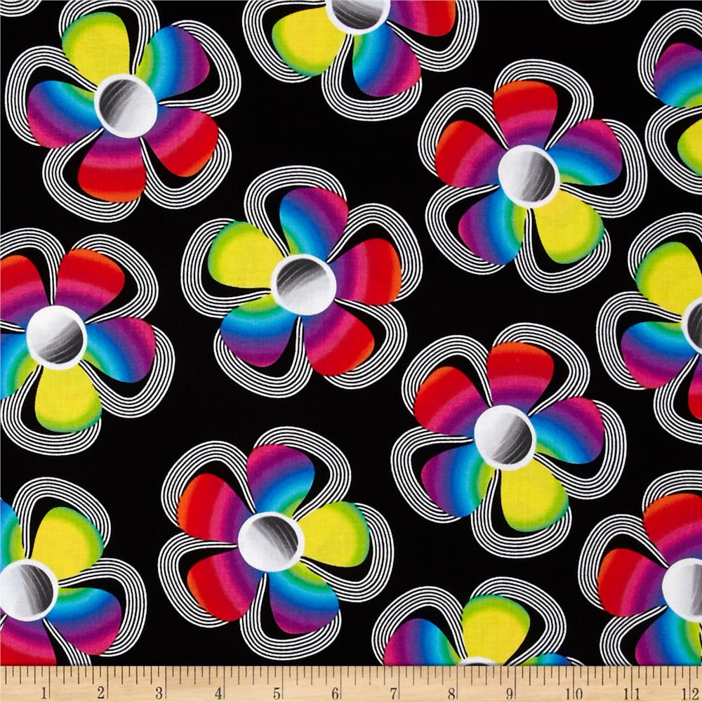 Kanvas Bright Idea Flower Pop Black