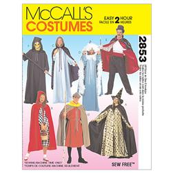 McCall's Misses', Men's and Teen Boy's Cape and Tunic Costumes Pattern M2853 Size ADT