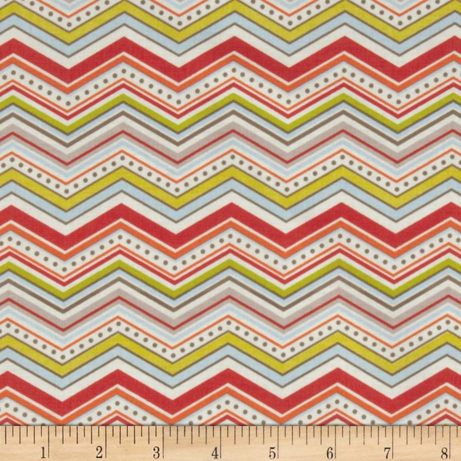 Riley Blake One For The Boys Chevron Cream