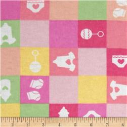 Newcastle Flannel Baby Checks Pink
