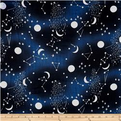 Kokka Trefle Night Sky Double Gauze Navy