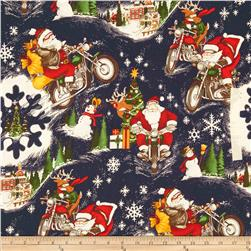 Christmas Time RPM Santa Midnight Fabric
