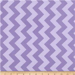 Riley Blake Laminate Medium Chevron Tone on Tone Lavendar