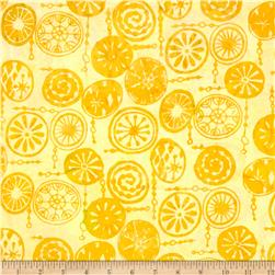 Bali Batiks Handpaints Mod Circles Pineapple