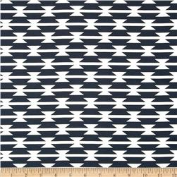 Art Gallery Arizona Tomahawk Stripe Navy Fabric