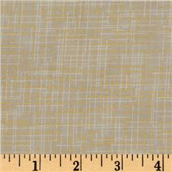 Quilter's Linen Metallic Bone Fabric