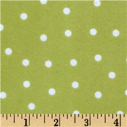 Essentials Flannel A Dot is a Dot Green