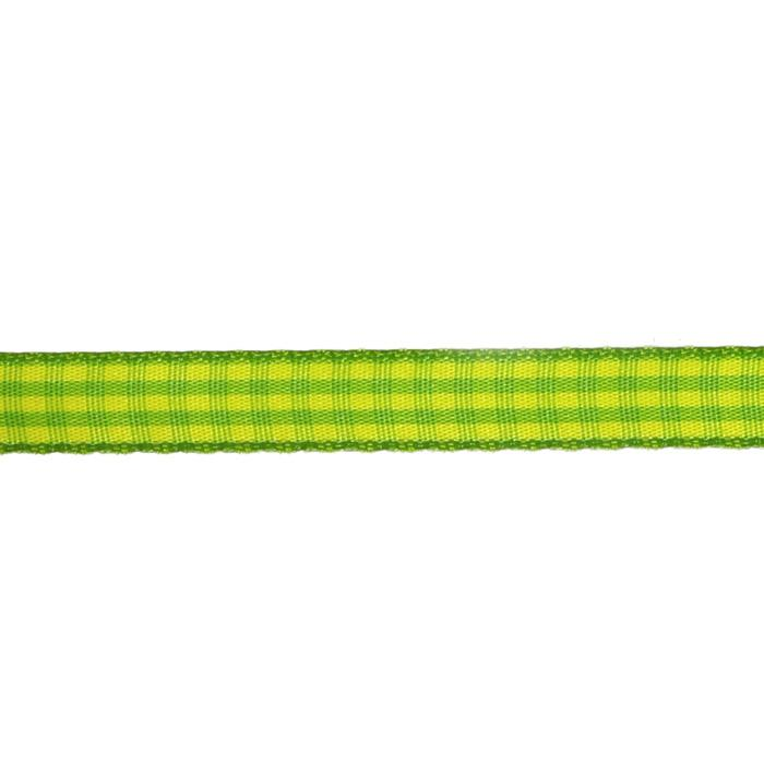 "3/8"" Yarn Dyed Checker Ribbon Green/Yellow"
