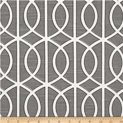 Dwell Studio Bella Porte Slub Charcoal Fabric