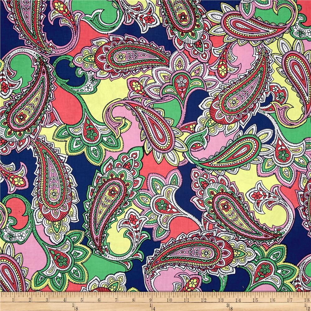 Bahama Breeze Paisley Punch Navy/Green