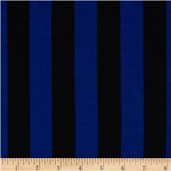 Soft Jersey Knit Mid Stripes Royal/Black