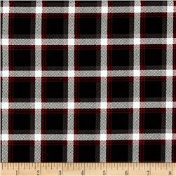 Kanvas Best in Show Classic Plaid Black Fabric