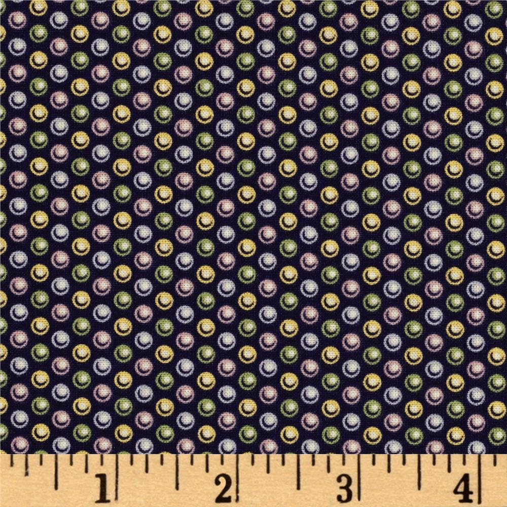 Windham Carolyn Multi Dot  Navy
