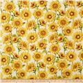 Follow the Sun Large Packed Sunflowers Cream