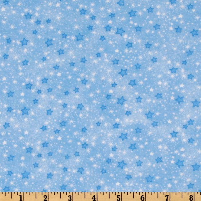 Comfy Flannel Stars Blue