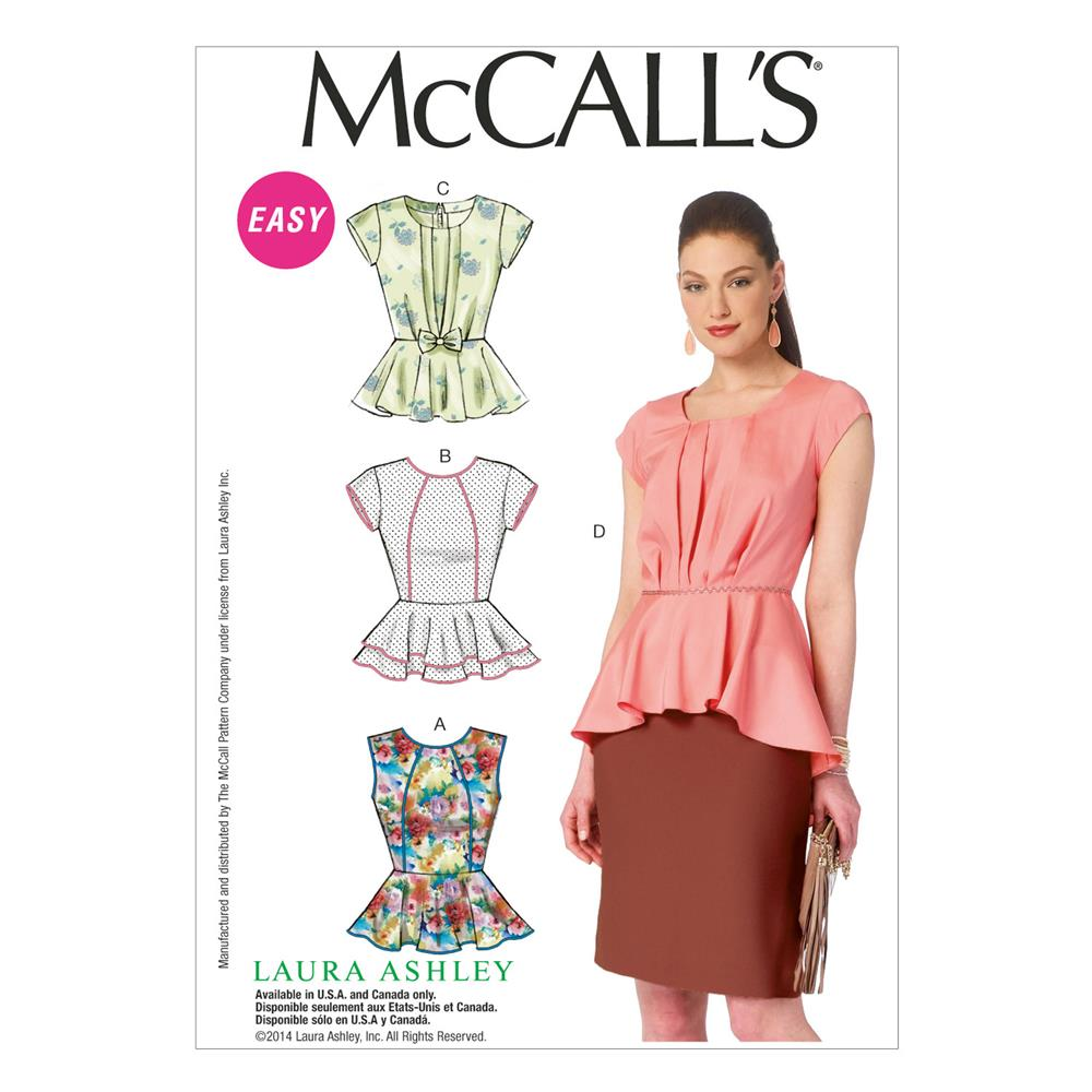 McCall's Misses Tops Pattern M6990 Size A50