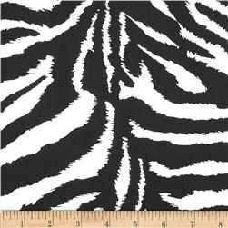 Cotton Blend Broadcloth Zebra Black/White