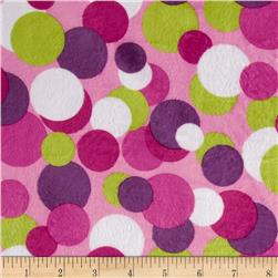 Minky Candy Circles Pink Fabric