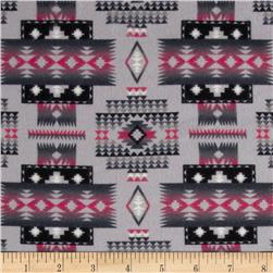 Tucson Flannel Blanket Grey Fabric