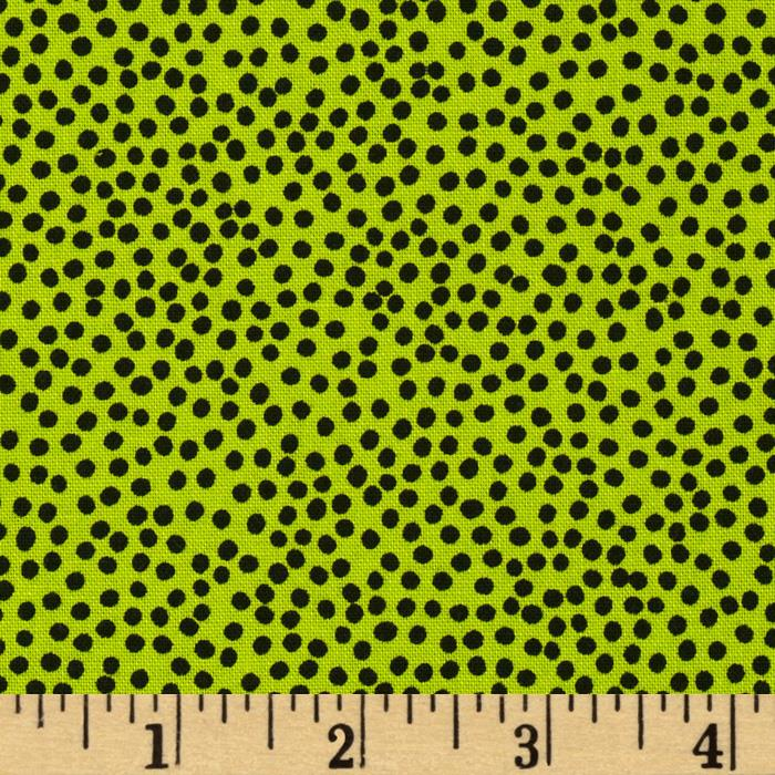 Loralie Church Ladies Bitty Dots Green