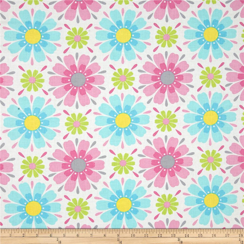 Timeless Treasures Gabrielle Floral White