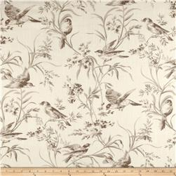 French General Bird Toile Blend Bisque Fabric