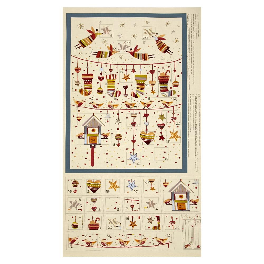 "Sophie Advent Calender 24"" Panel Cream/Multi"