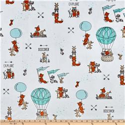 Shannon Minky Cuddle Prints Let's Explore Breeze