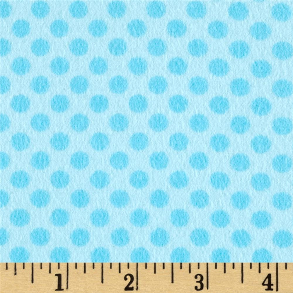 Kanvas Breezy Baby Flannel Lullaby Aqua/Turquoise Fabric By The Yard