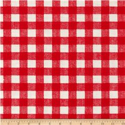 Basic Training Gingham Red/White Fabric