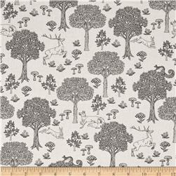 Kokka Monochrome Canvas Forest Toile Cream