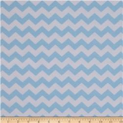 Dreamland Flannel Chevron Dreamy Blue