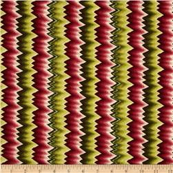 Williamsburg Virginia Flame Stitch Green/Mauve