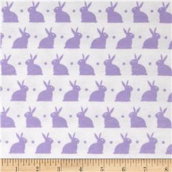 Dreamland Flannel Bedtime Bunny White/Lavender Lily